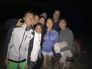 on the beach for fireworks